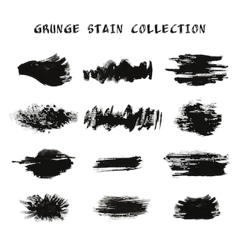 Kolekcja grunge plam