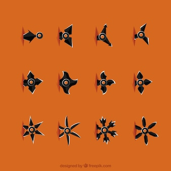 Kolekcja gwiazd ninja