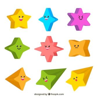 Kolekcja gwiazd z twarzami