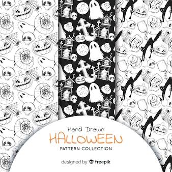 Kolekcja halloweenowych wzorów