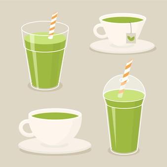 Kolekcja herbat matcha na ciepło i na zimno