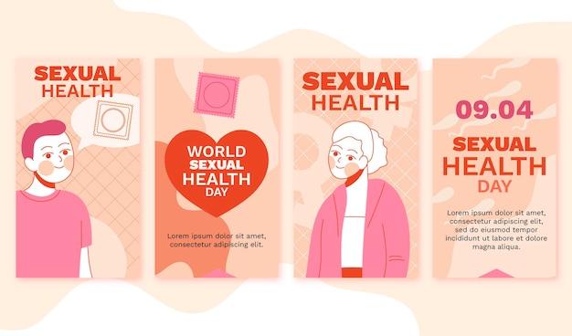 Kolekcja historii na instagramie o światowym dniu zdrowia seksualnego