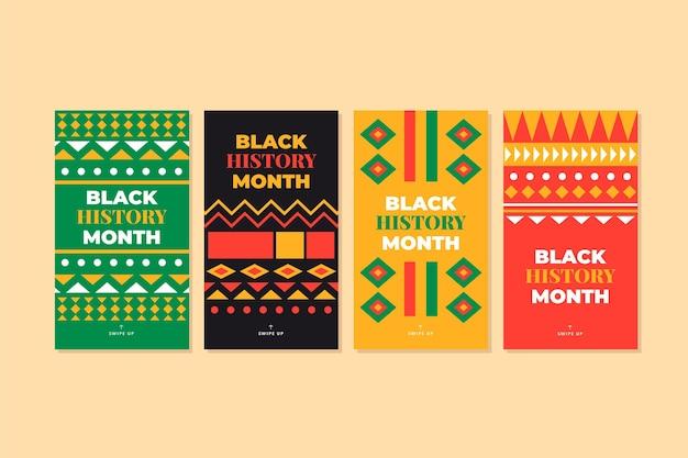 Kolekcja historii na instagramie z czarnej historii