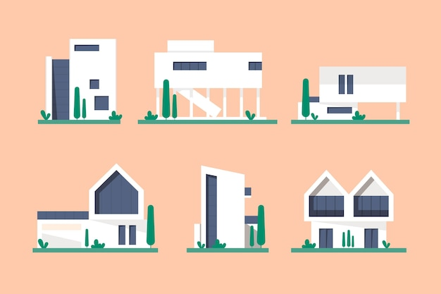 Kolekcja house ilustrowana koncepcja