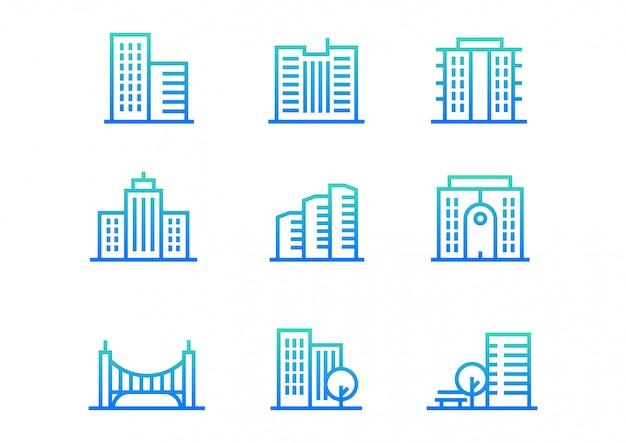 Kolekcja ikon budynku