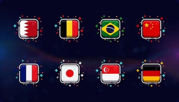 Kolekcja ikon flag