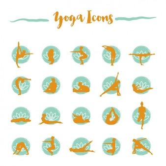 Kolekcja ikon jogi