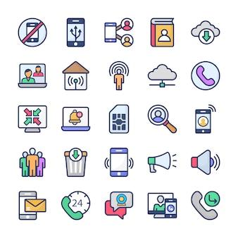 Kolekcja ikon komunikacji