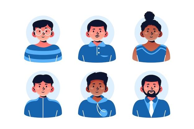 Kolekcja ikon kreatywnych ręcznie rysowane profilu