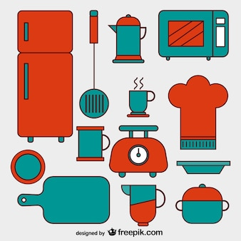Kolekcja ikon kuchni