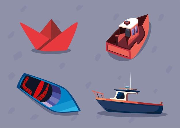Kolekcja ikon łodzi