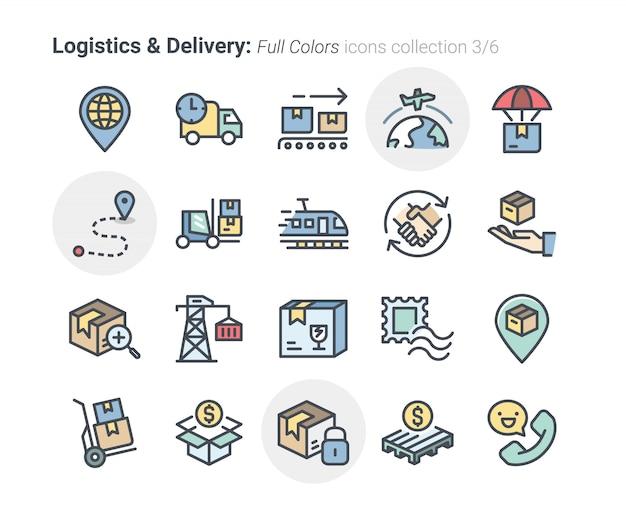Kolekcja ikon logistyki i dostawy