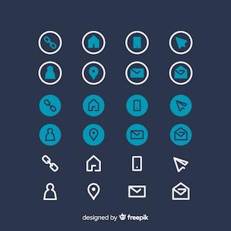 Kolekcja ikon na wizytówkę