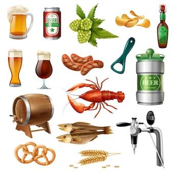 Kolekcja ikon piwa oktoberfest