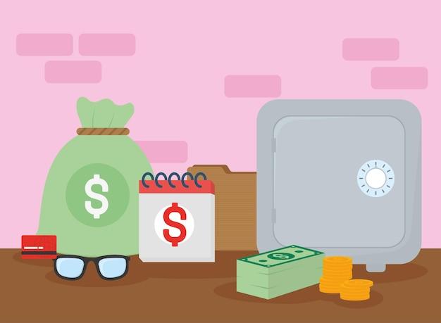 Kolekcja ikon podatków i pieniędzy