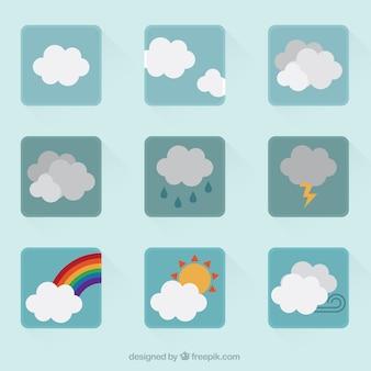 Kolekcja ikon pogodowych
