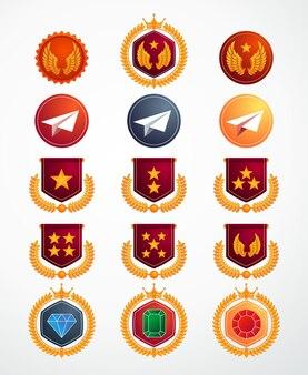 Kolekcja ikon poziomu