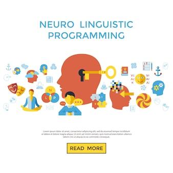 Kolekcja ikon programowania lingwistycznego