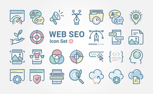 Kolekcja ikon seo www