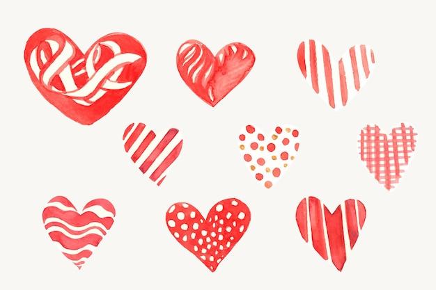 Kolekcja ikon serca szczęśliwy walentynki