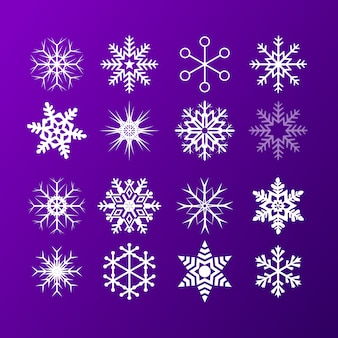 Kolekcja ikon śniegu