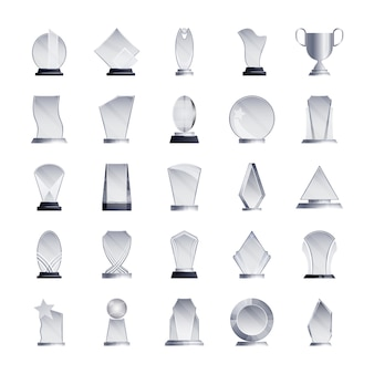Kolekcja ikon trofeów