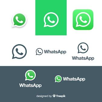 Kolekcja ikon whatsapp