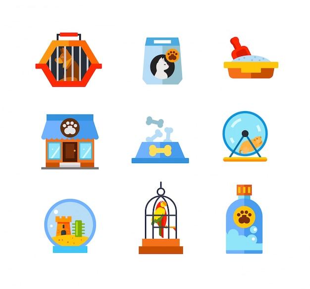 Kolekcja ikon zwierząt domowych