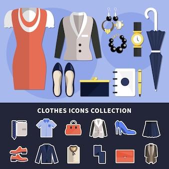 Kolekcja ikona ubrania