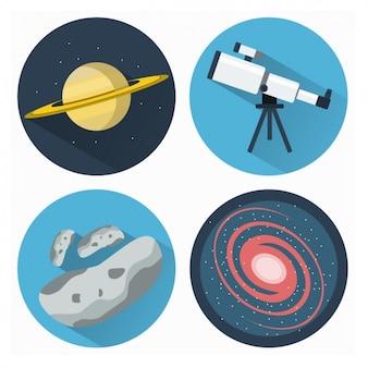 Kolekcja ikony astronomia