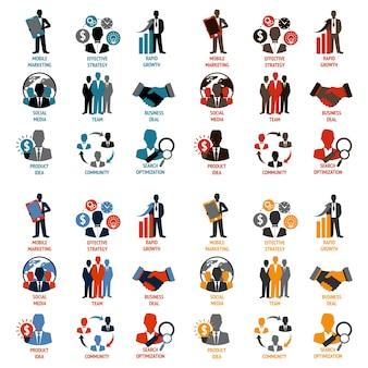 Kolekcja ikony biznesu
