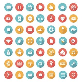 Kolekcja ikony elementów