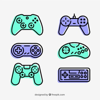Kolekcja ikony gamepad
