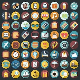 Kolekcja ikony na wakacje