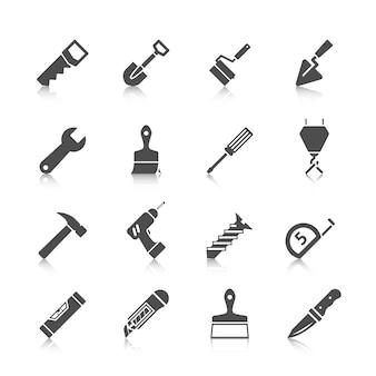 Kolekcja ikony narzędziowe