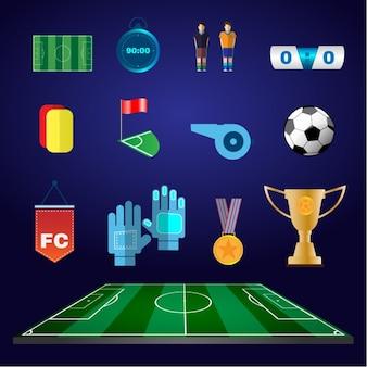 Kolekcja ikony piłki nożnej