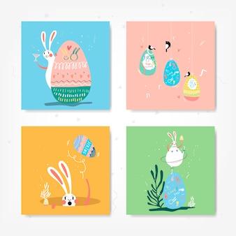 Kolekcja Ilustracja Celebracja Wielkanoc Darmowych Wektorów