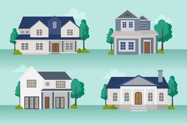 Kolekcja ilustracji domu