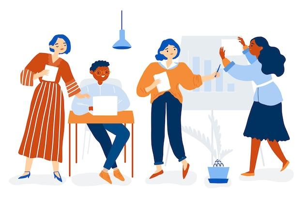 Kolekcja ilustracji ludzi biznesu