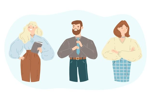 Kolekcja ilustracji ludzi ufnych