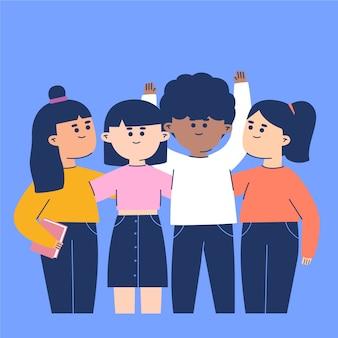 Kolekcja ilustracji młodych ludzi
