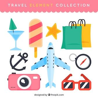 Kolekcja ilustracji podróży