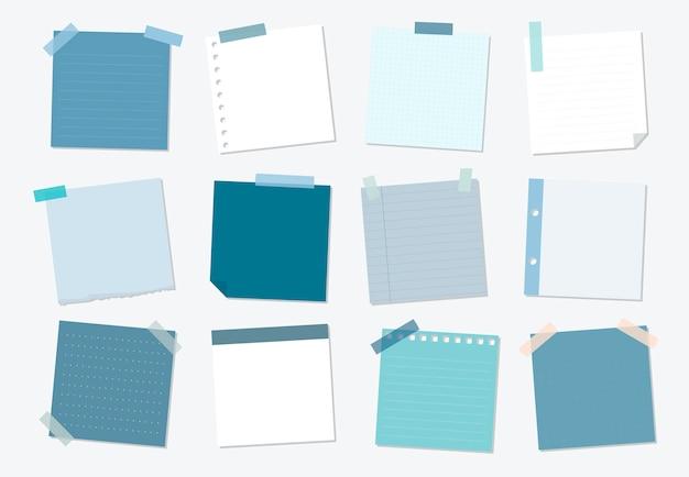 Kolekcja ilustracji sticky note