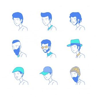 Kolekcja ilustracji stylu człowiek wektor