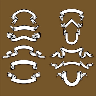 Kolekcja ilustracji wstążki