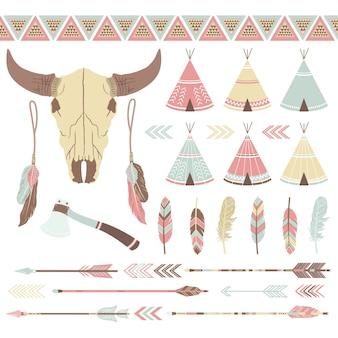 Kolekcja indian etnicznych