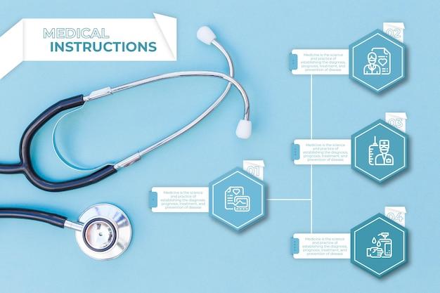 Kolekcja infografikę medyczną