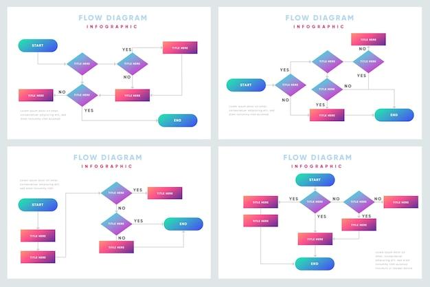 Kolekcja infografikę schemat przepływu