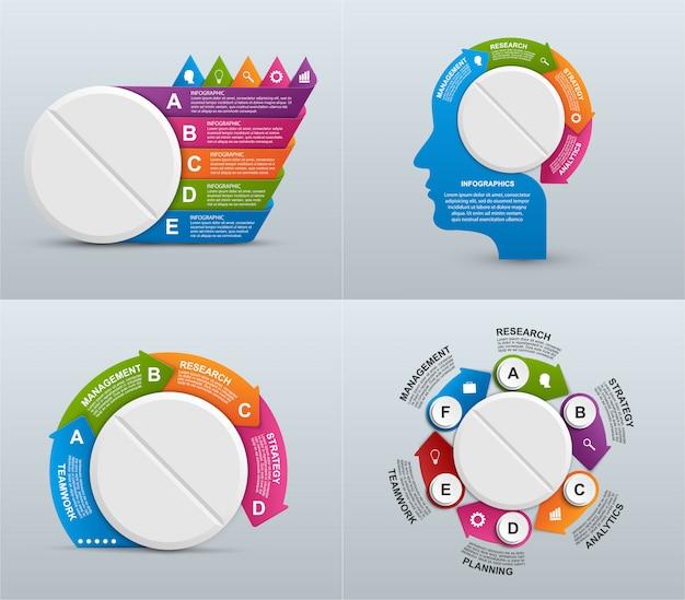 Kolekcja infografiki dla medycyny.