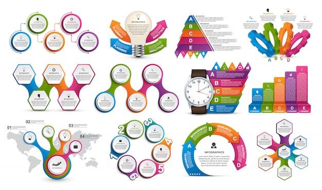 Kolekcja infografiki.